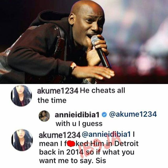 DVS-0XMW0AAt94v Lady Says Boldly To Annie Idibia That She Slept With 2face In 2014