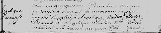 Baptism record of Angelique Desautels