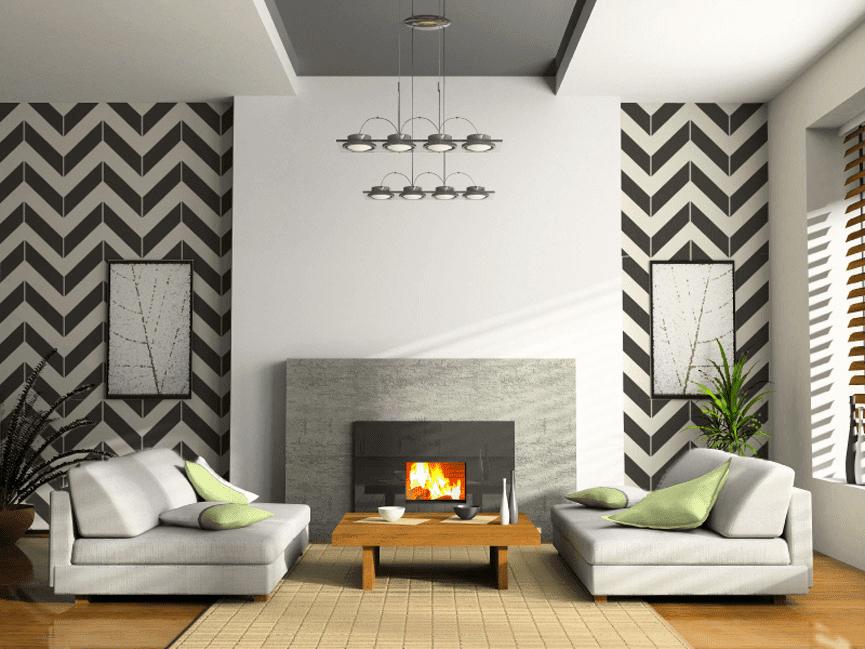 papel de parede sala de estar