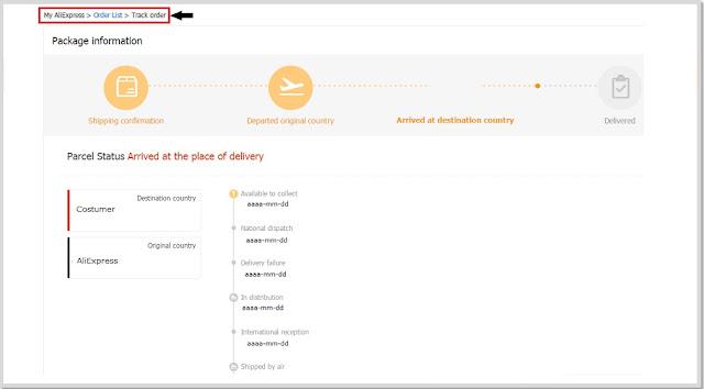 AliExpress Help Track a Order