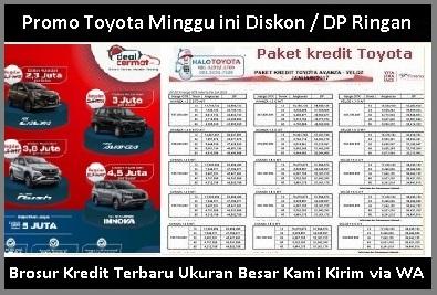 Harga kredit Mobil Toyota Raize Medan brosur Promo