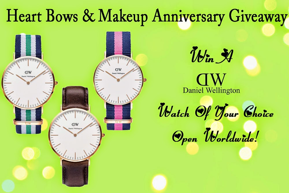 http://www.heartbowsmakeup.com/hbm-first-anniversary-giveaway-win-a-daniel-wellington-watch-open-internationally/