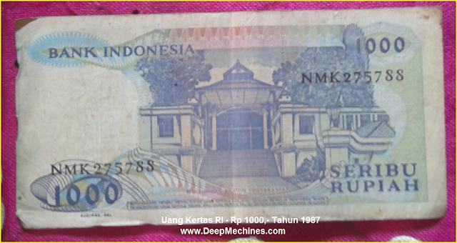 Gambar Mata Uang Kertas RI Rp 500,- Tahun 1988 bergambar Keraton Yogyakarta