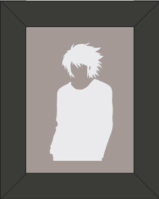 Cadre Silhouette de L - Personnage Death Note