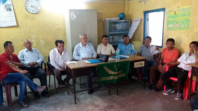 Himalayan Plantation Workers Union president NB Chhetri in a Press meet