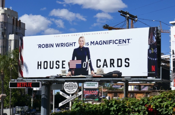 Robin Wright House of Cards 2019 Emmy FYC billboard