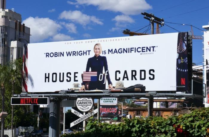 Robin Wright House of Cards 2019 Emmy FYC billboard