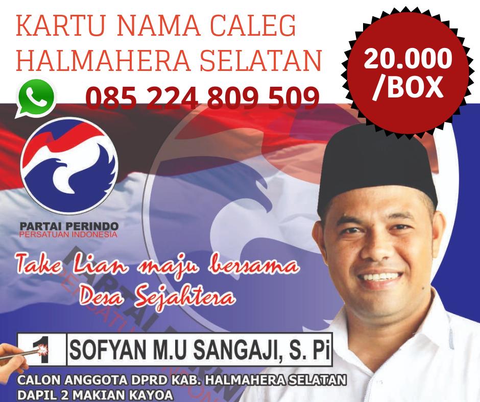 Alfi Percetakan Dan Digital Printing Pesanan Kartu Nama Caleg Halmahera Selatan