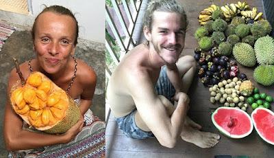 Pasangan hanya makan buah selama tiga tahun