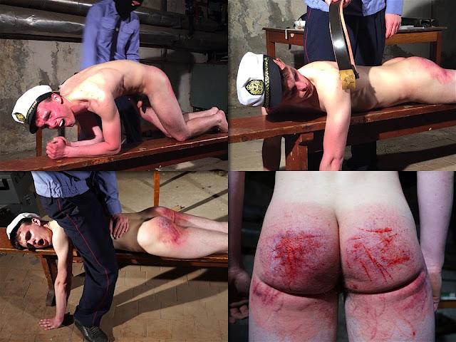 RusStraightGuys - Police Prison – Sailor Nikita 18 y.o. cruel spanking by belt