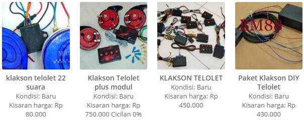 Harga Klakson Telolet 22 Suara, Telolet Plus Modul, Klakson Telolet, Paket Klakson DIY Telolet