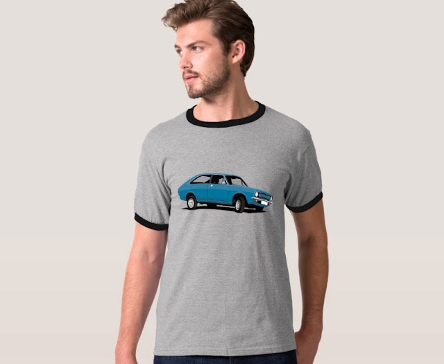 Retro Morris Marina Coupé blue - t-shirt