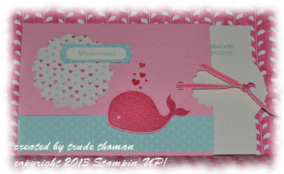 slider card, Stamp with Trude, Stampin' Up!, baby card, Oh Whale