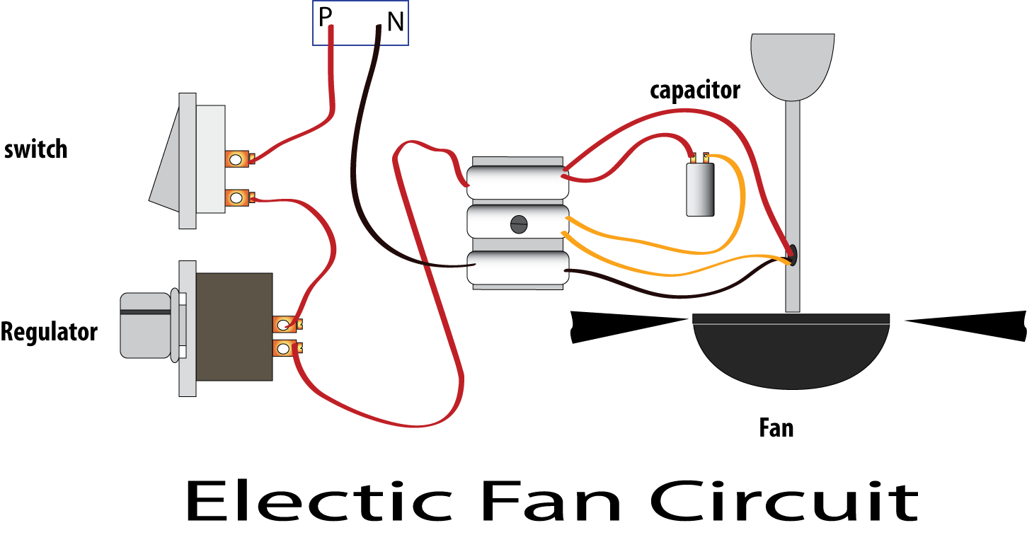 Wiring Diagram Of Ceiling Fan With Regulator : Learn basic electronics circuit diagram repair mini project