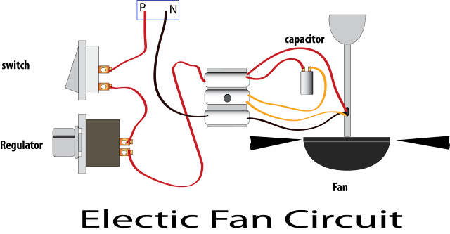 Electric fan circuit to repair