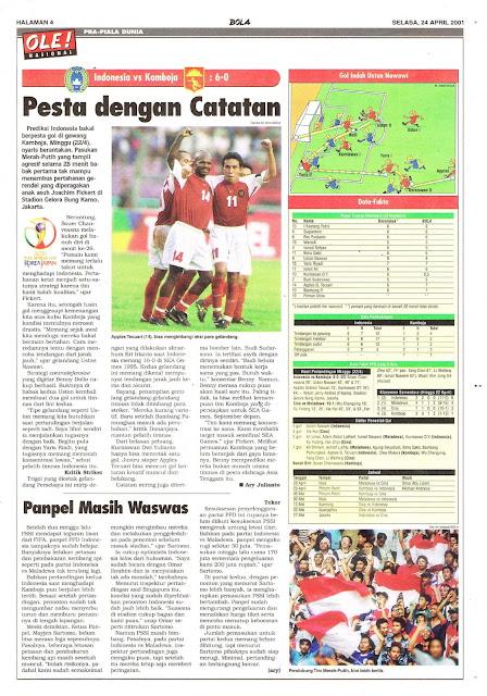PRA-PIALA DUNIA: INDONESIA VS KAMBOJA 6-0 PESTA DENGAN CATATAN