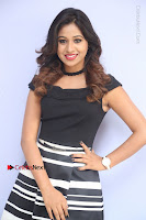 Actress Mi Rathod Pos Black Short Dress at Howrah Bridge Movie Press Meet  0072.JPG