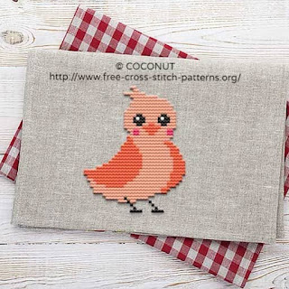 BIRD (21), FREE AND EASY PRINTABLE CROSS STITCH PATTERN