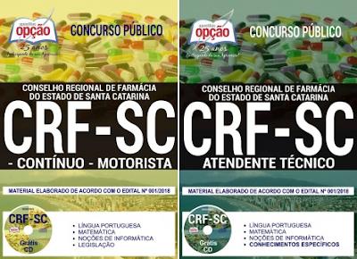 Apostilas do concurso Conselho Regional de Farmácia SC - CRFSC - 2018
