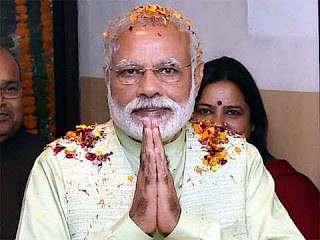 Prime Minister Narendra Modi after winning