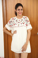 Lavanya Tripathi in Summer Style Spicy Short White Dress at her Interview  Exclusive 276.JPG
