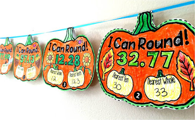 Rounding Pennant {Pumpkin theme}