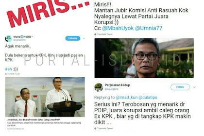 Ex Jubir KPK Bakal Nyaleg Lewat Partai Juara Korupsi, Warganet: Terobosan Visioner!!