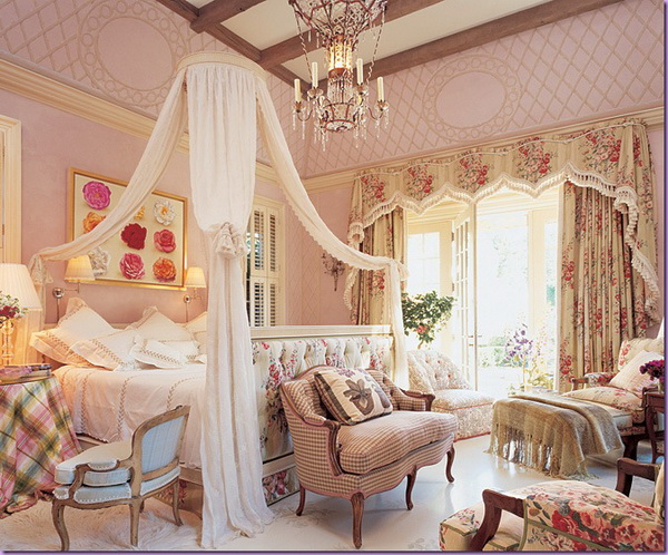 Kitchen Furniture: Romantic Bedroom Color