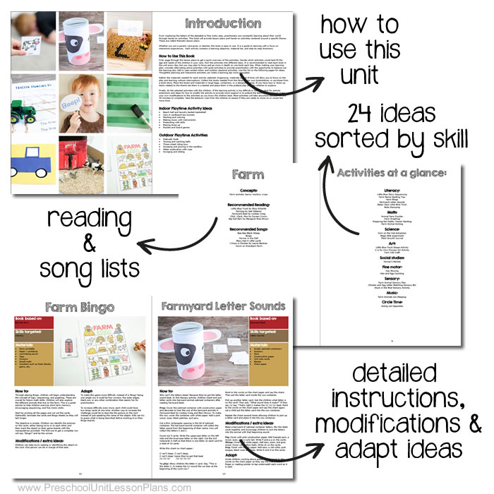 how-to use preschool lesson plans