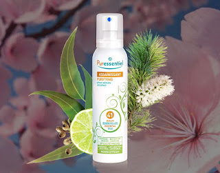 spray assainissant purificateur d'air huilles essentielles