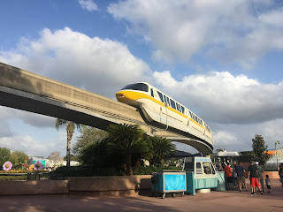 Monorail Yellow above Epcot