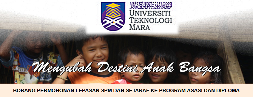 UiTM Diploma Foundation Programme application form online for students to apply