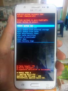 Hard Reset Samsung Galaxy J5 (SM-J500G)