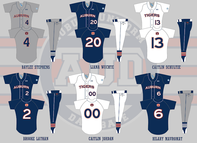auburn softball uniform 2013