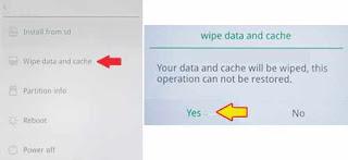 menu wipe data reset di OPPO