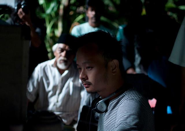 The director, Liew Seng Tat behind the scene for the Lelaki Harapan Dunia shoot