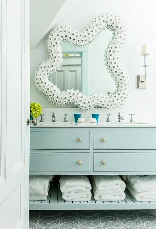 Decorative Bathroom Mirrors Coastal Nautical Style Shop The Look Coastal Decor Ideas Interior Design Diy Shopping