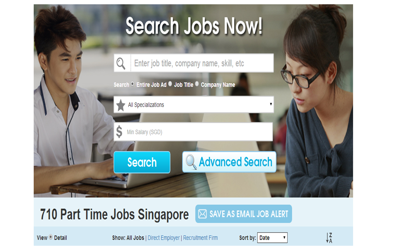 Part Time Job/ Internship In Singapore Part 1