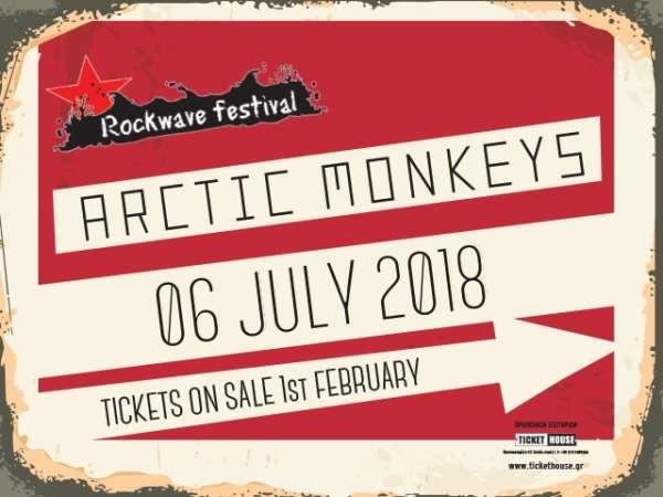 ARCTIC MONKEYS: Παρασκευή 6 Ιουλίου @ Rockwave Festival