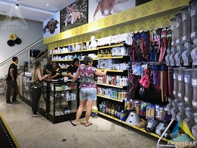 projeto arquitetura balcão caixa farmácia loja royal rações pet shop
