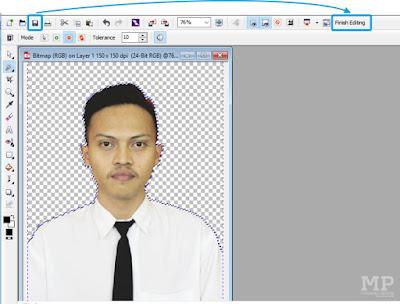 Save dan Finish Editing