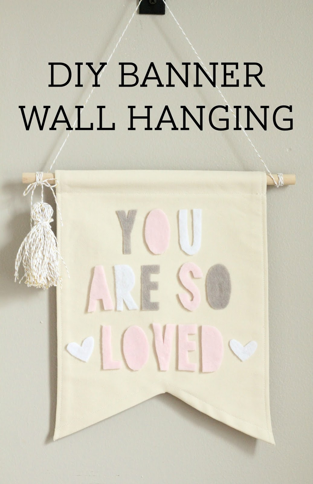 Lovely Little Life Diy Banner Wall Hanging With No Sew