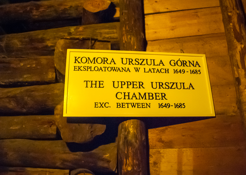 Chamber sign in Wieliczka Salt Mine in Poland