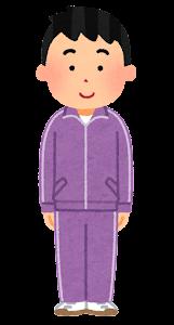 ジャージを着た男性のイラスト(紫)