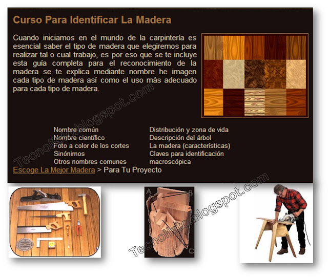 """tipos de madera"""