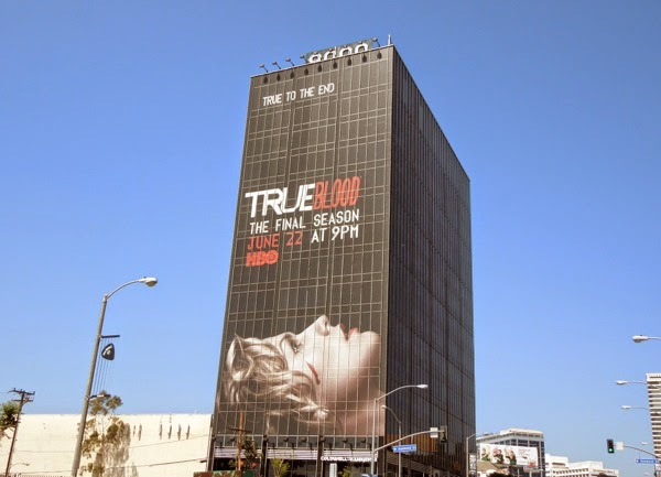 Giant True Blood final season billboard Sunset Strip