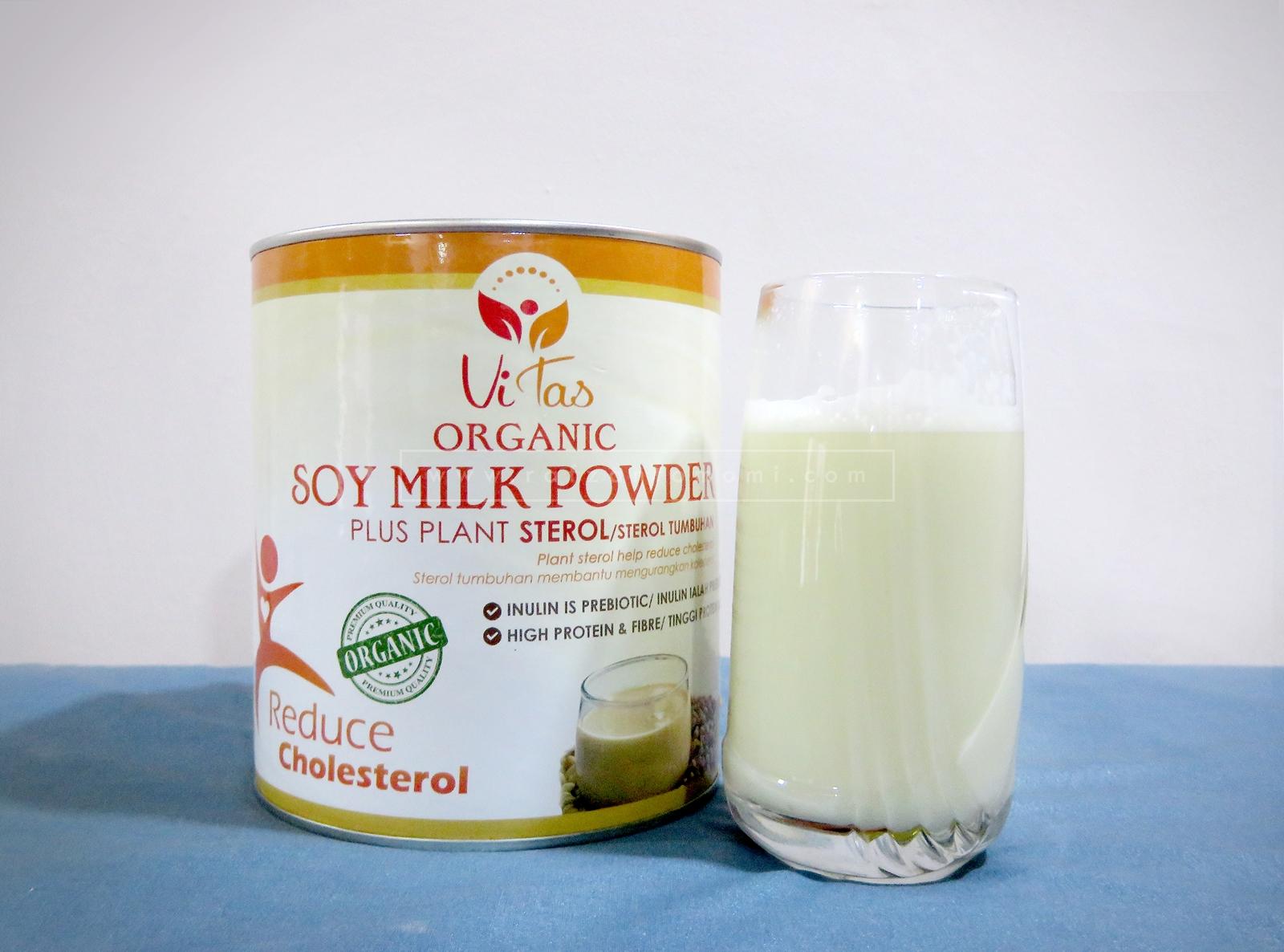 Kurangkan Kolestrol Dengan Vitas Organic Soymilk