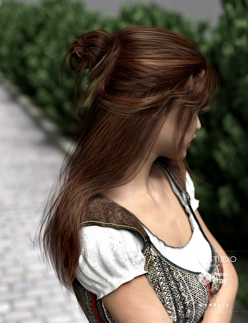 Kanzashi Hair for Genesis 3 Female