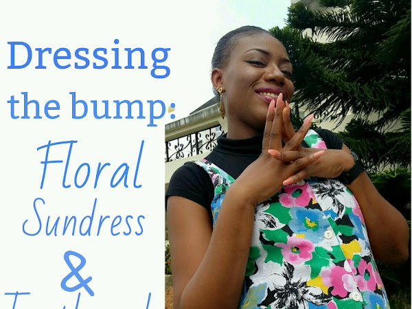 Dressing The Bump: Floral Sundress and Turtleneck