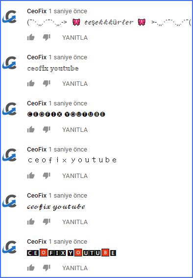 Youtube'da yazı fontunu değiştirme - www.ceofix.com